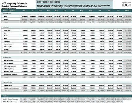 5 Excel Templates for Business Download