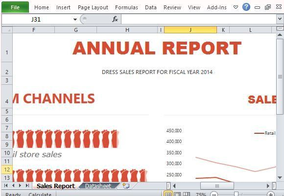 Sales Report Infographic Template for Excel 2013