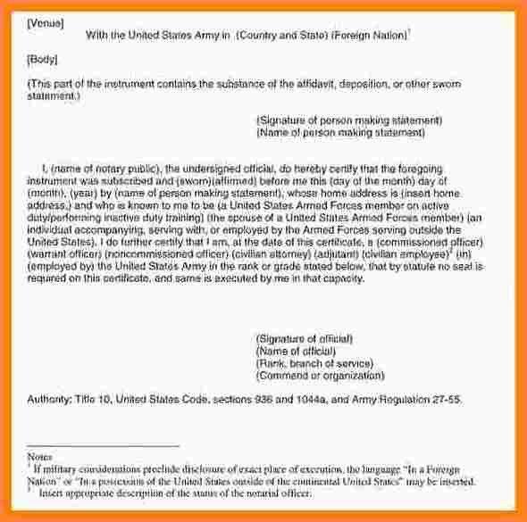 Sworn Declaration Template. nice general affidavit form example ...