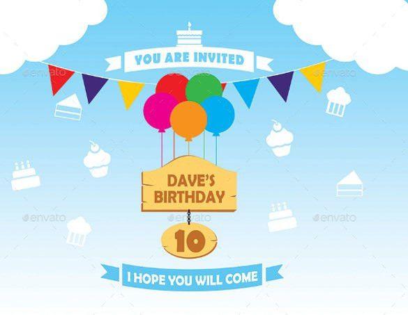 14+ Post Card Birthday Invitations – Free PSD, Vector EPS, AI ...