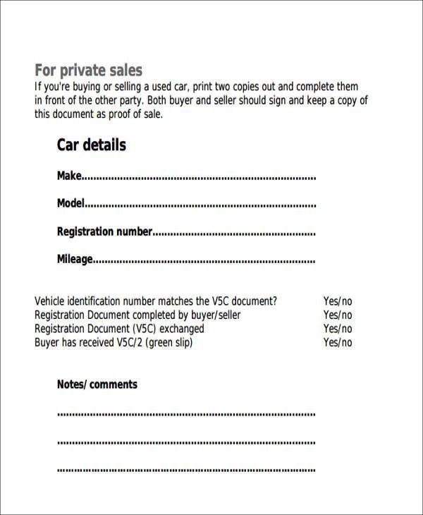 Auto Sales Receipt Sample - 6+ Examples in Word, PDF