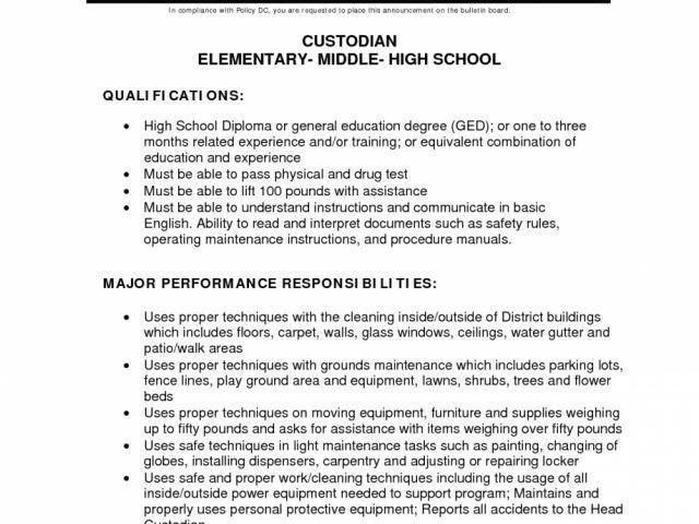 maintenance resume samples sample resume for cleaning job ...