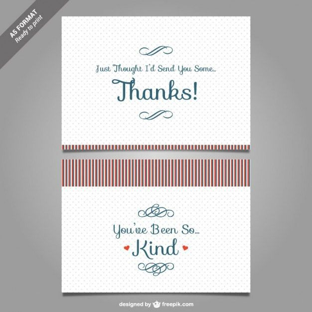 Thank You Note Template. Thank You Card Template Vector Thank You ...