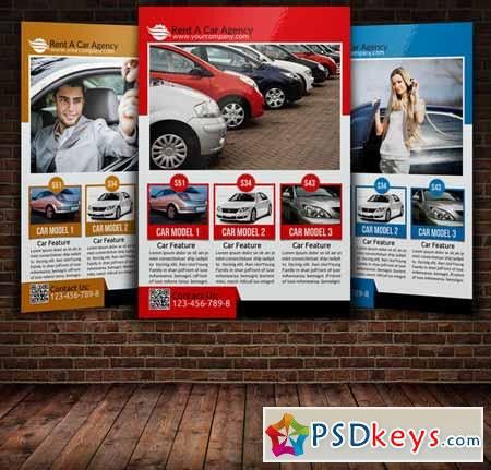 Rent A Car Flyer Template 221701 » Free Download Photoshop Vector ...