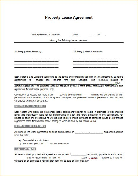 5 lease agreement template wordReport Template Document | report ...