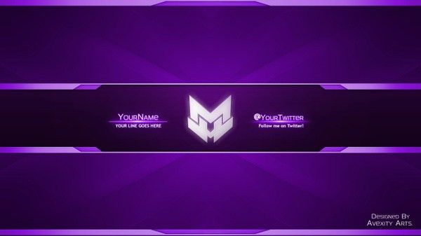 Clean YouTube Banner/Avatar Template | Any Colour | [F