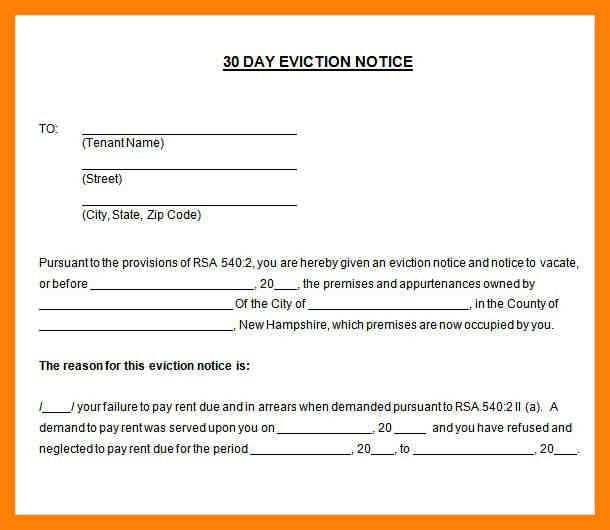 11+ 30 day eviction notice forms | daily log sheet