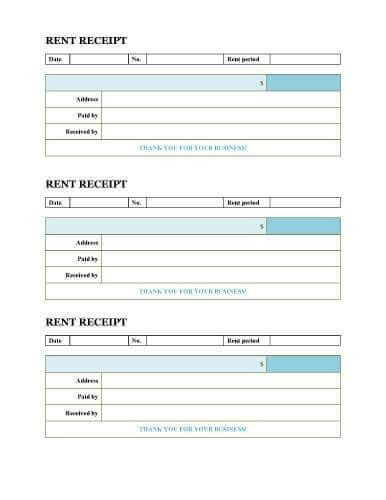 10 Free Rent Receipt Templates
