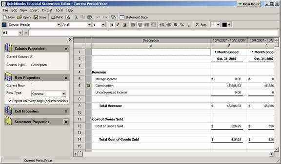 Customize Financial Statement Templates | Accounting Software Secrets