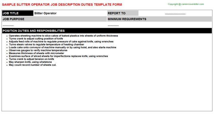Slitter Operator Job Title Docs