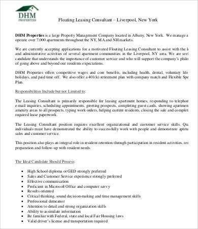 assistant property manager resume job description