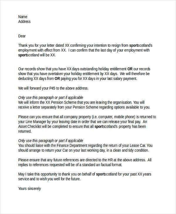 28+ Resignation Letters in PDF | Free & Premium Templates