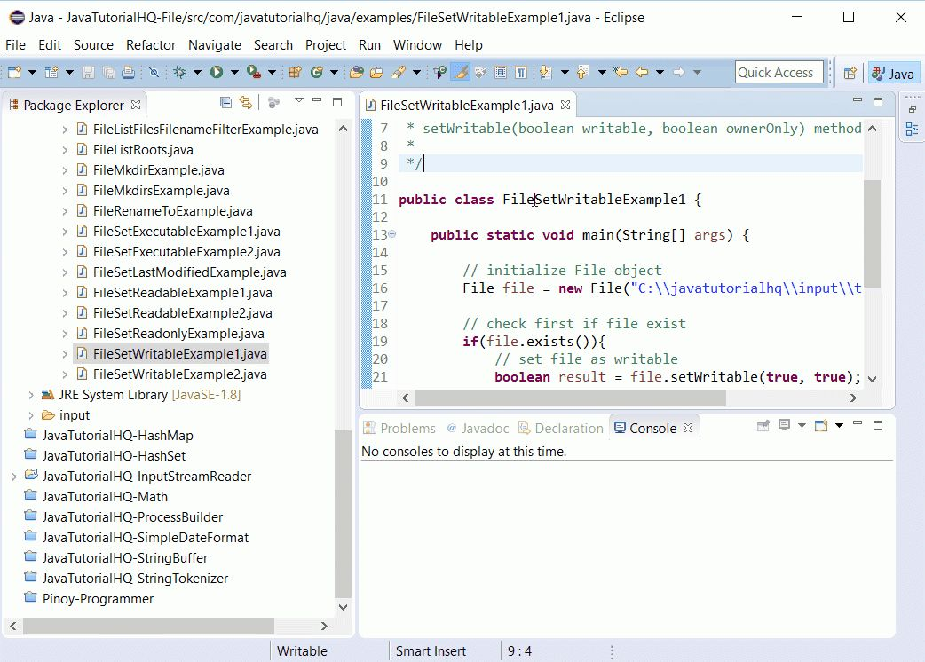 Java File setWritable(boolean writable, boolean ownerOnly) method ...