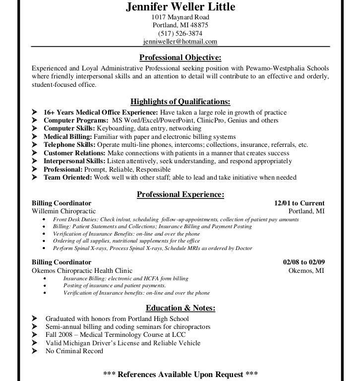 Medical Billing Resume Sample | Enwurf.csat.co