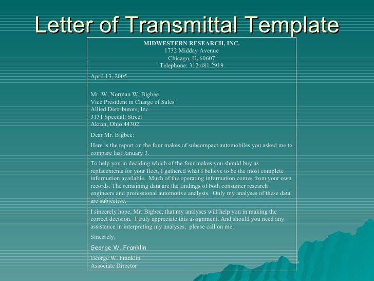 5 Free Letter of Transmittal Templates - Excel PDF Formats