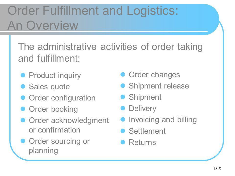Order Fulfillment, eCRM, and Other Support Services - ppt download
