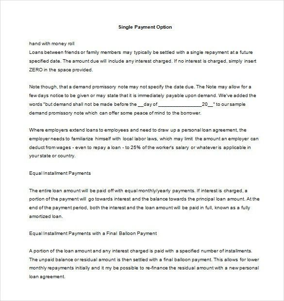 Promissory Note Template | Free & Premium Templates