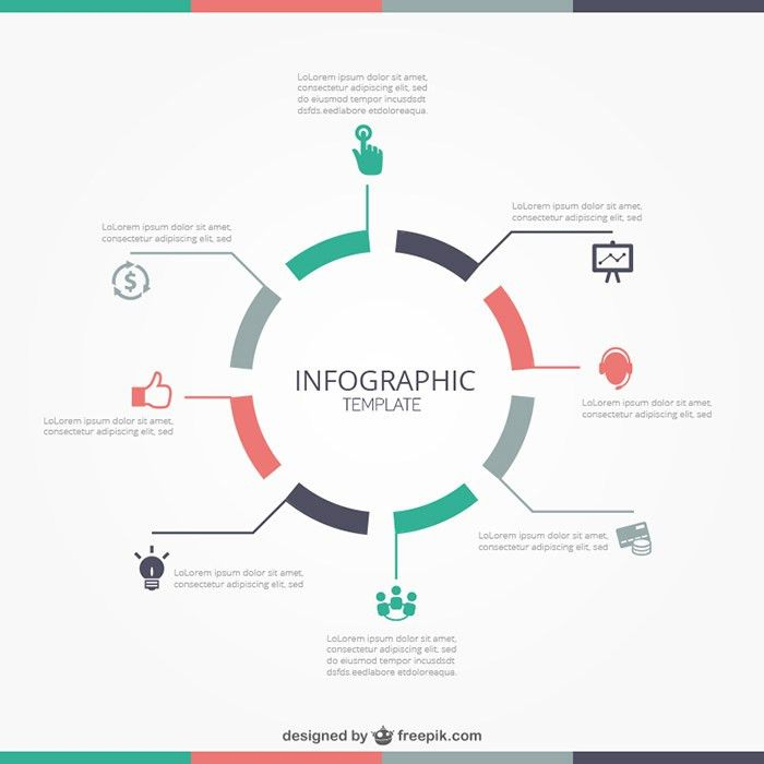 round-infographic-template | Infographics | Pinterest ...
