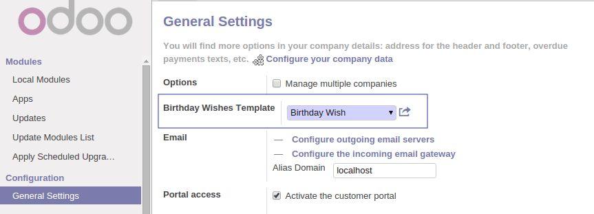Birthday Wish/Notifications | Odoo Apps