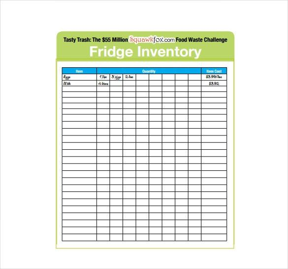 Inventory Sheet Template - Free Excel, PDF Documents Download ...