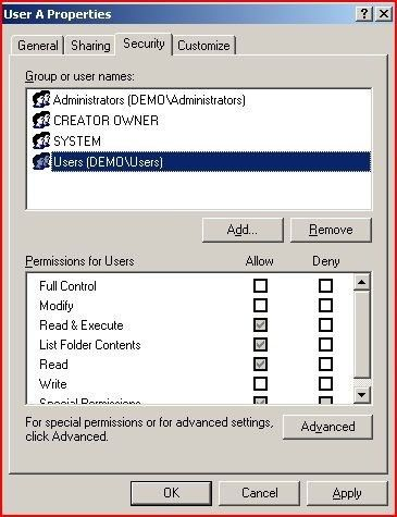 How to perform the equivalent of CHMOD on a Windows server (which ...