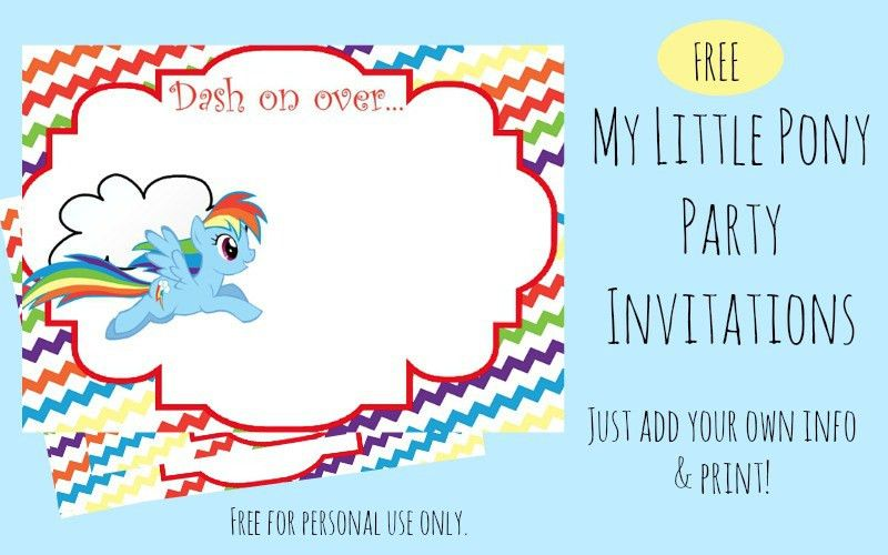 Free Printable Rainbow Dash Party Invitations - Our Whimsical Days