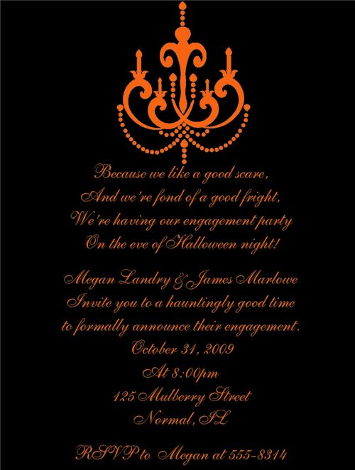 Halloween Engagement Party Invitations – Festival Collections