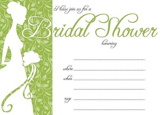 Bridal Shower Invite Template - marialonghi.Com