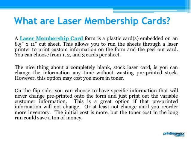 Laser Membership Cards by Printingworx