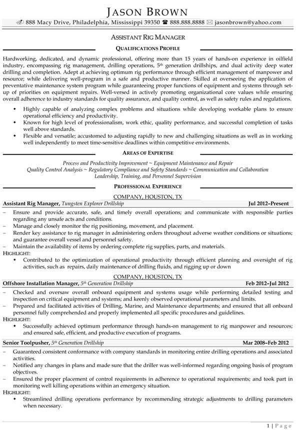 Maintenance Resume Examples - Resume Professional Writers
