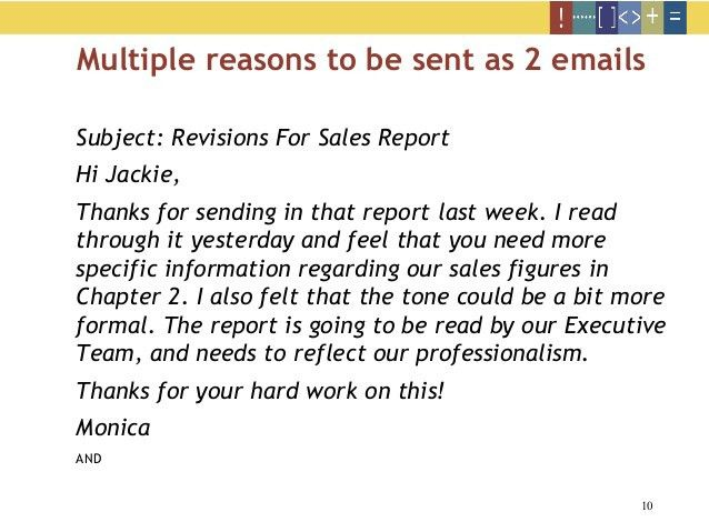 Effective email writing skills