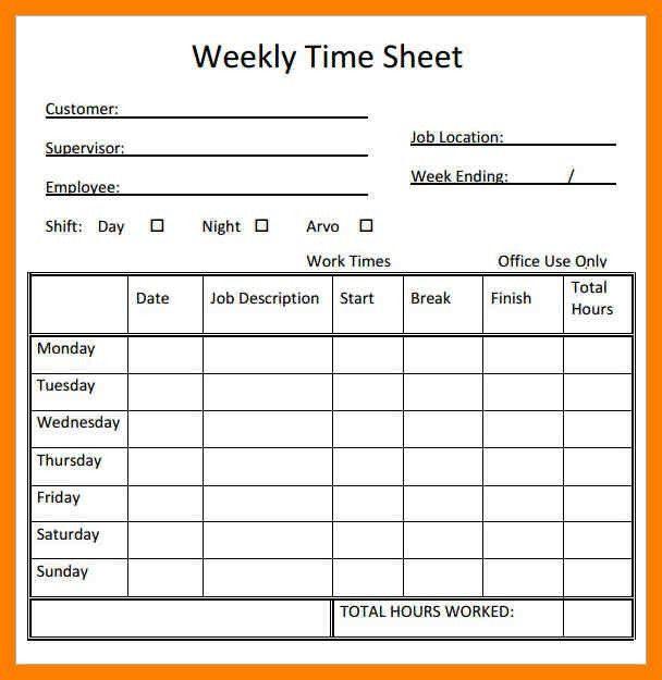 Free Timesheet Template. free printable timesheet templates free ...
