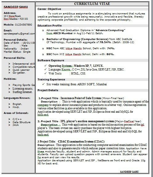 Free Microsoft Word Doc Professional Job Resume And Templates Free ...