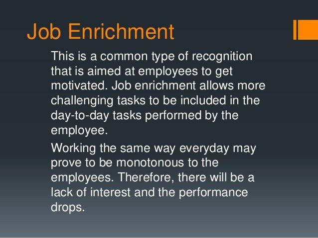 Job rotation reward and recognition
