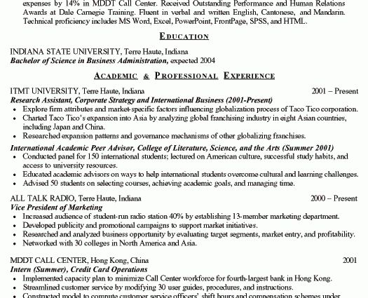 College Student Resume Example college student resume for ...
