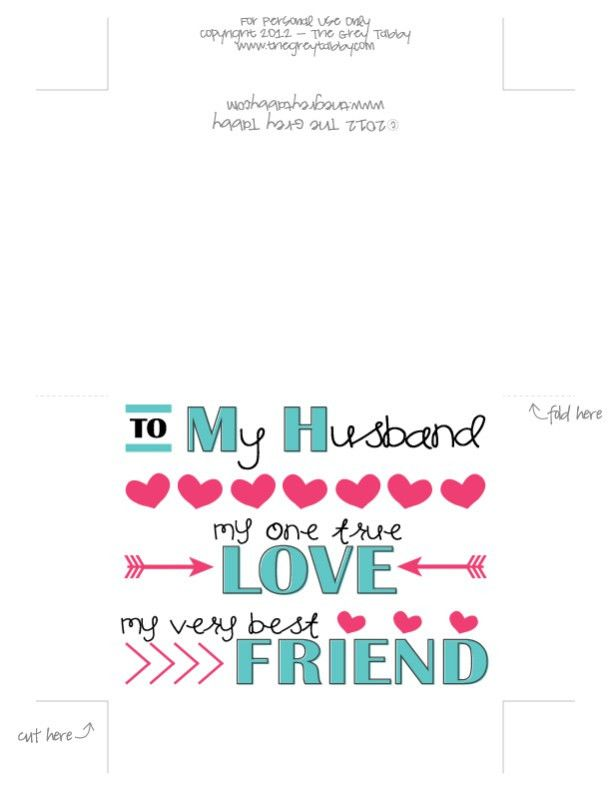 Free Printable - To My Husband: A Love Note Card | MOPS ...