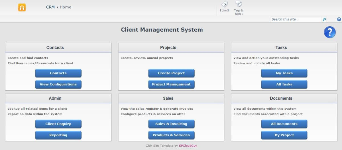 New CRM Template for SharePoint 2010 and SharePoint Online Now ...