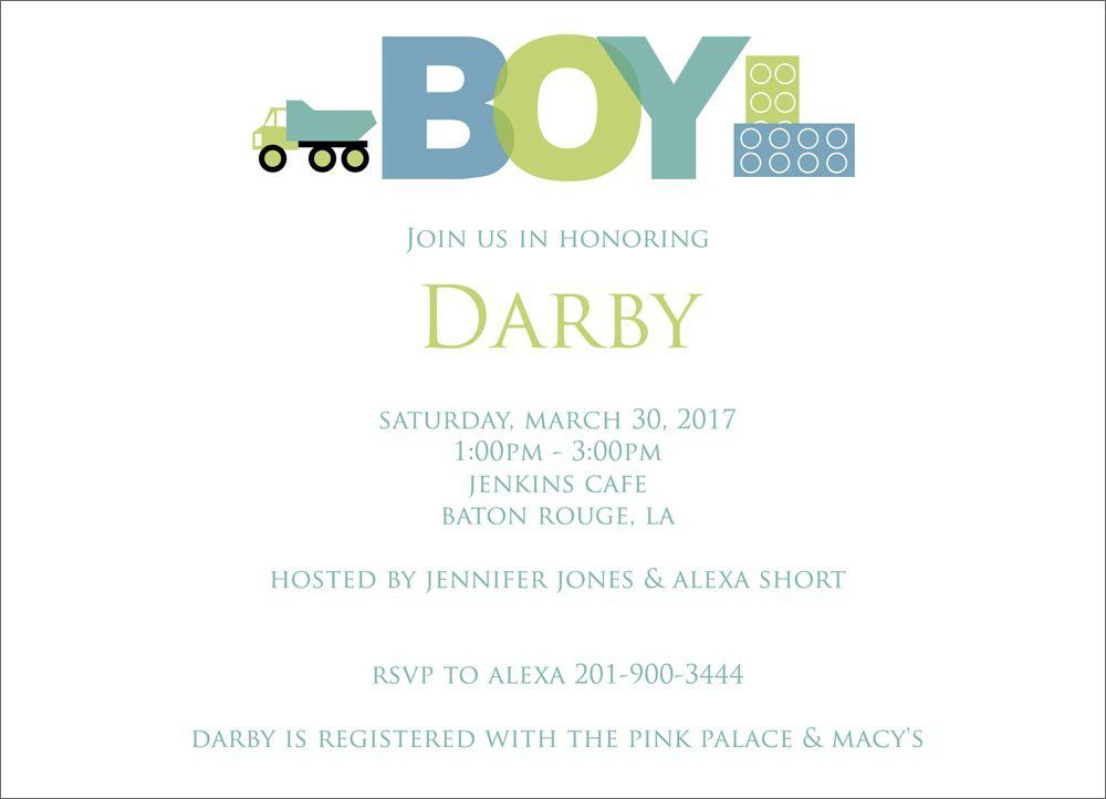 baby shower invitation samples boy c babyshower - Baby Shower DIY