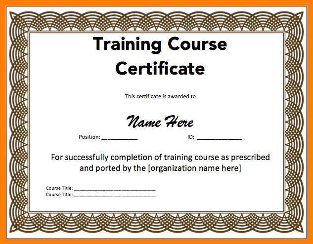 6+ training certificate format | sephora resume