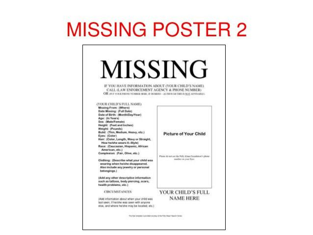 Missing poster templates