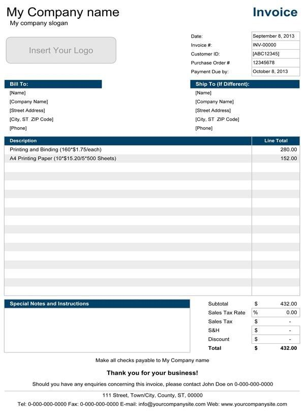 Google Docs Template Invoice - Best Resume Collection