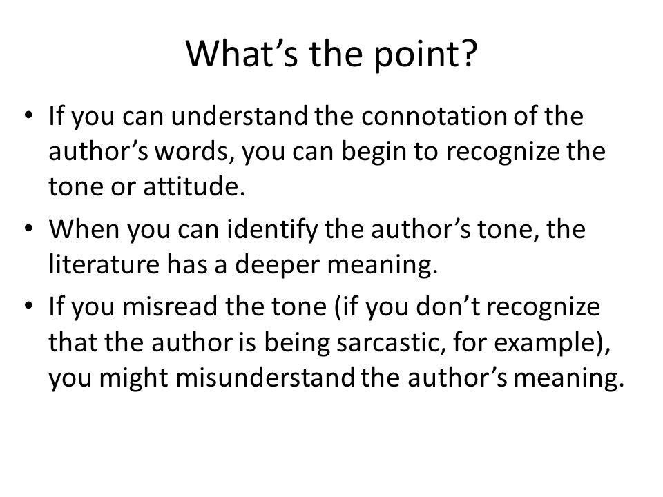 Connotation and Denotation - ppt download