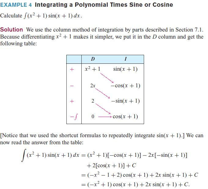 Solved: Use integration by parts to evaluate the integrals in E ...