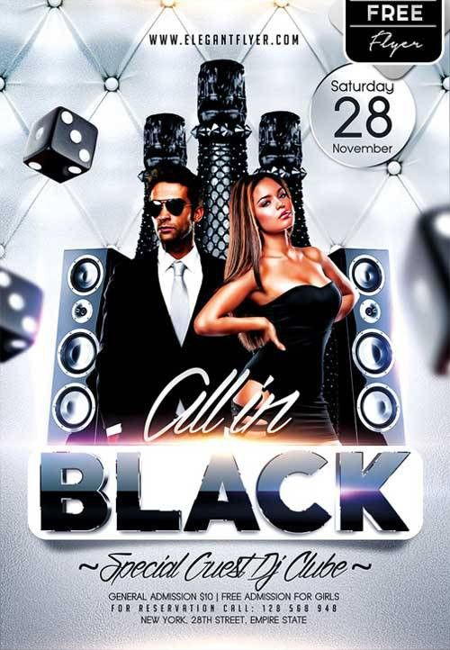 Download All in Black Party Free PSD Flyer Template for Photoshop ...