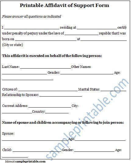 12 Best Images of Affidavit Template Printable - affidavit form ...
