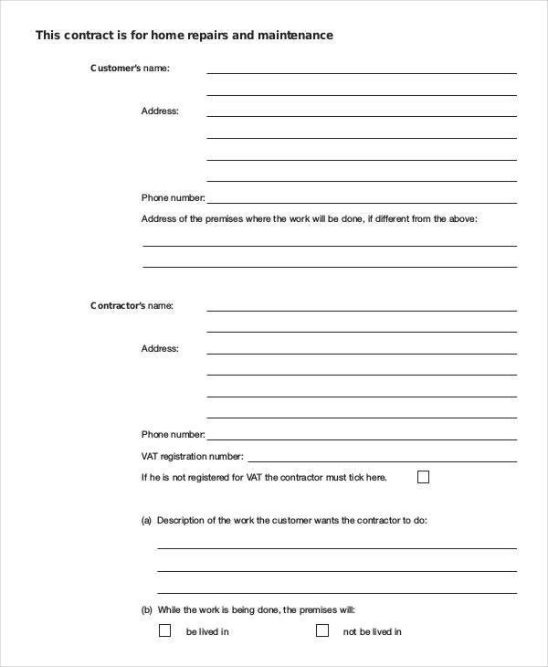 9+ Property Contract Templates - Free Word, PDF Format Download ...