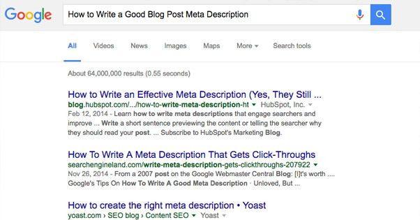How to Write a Good Blog Post Meta Description