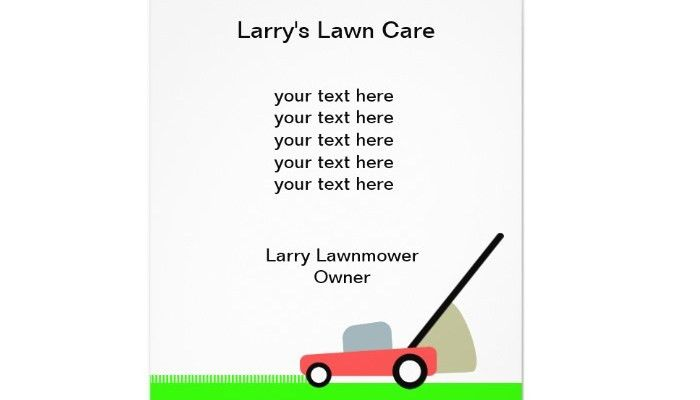 4 Lawn Care Flyers Templates | AF Templates