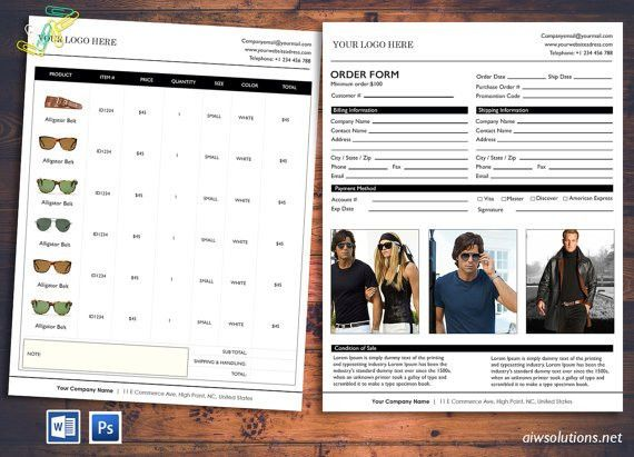 order form Wholesale order form template ms word by aiwsolutions ...