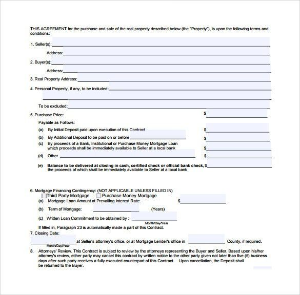 Real Estate Contract Templates - 9+ Download Free Documents in PDF ...